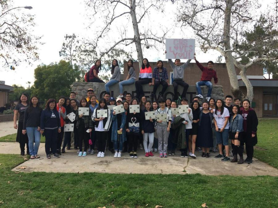 Student Ambassadors Show Off CHS to Chinese Exchange Students