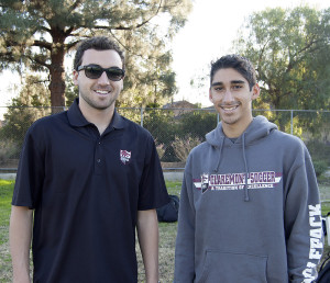Alumni Jason Umansky (left) and Paymon Minaie (right) are both coaches for the CHS boys soccer teams. Umansky is assistant for JV, and Minaie is the assistant for Frosh/Soph.