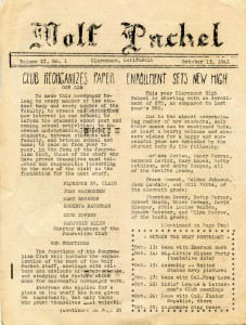 Wolfpacket, Volume 11, Issue 1, October 13, 1941.