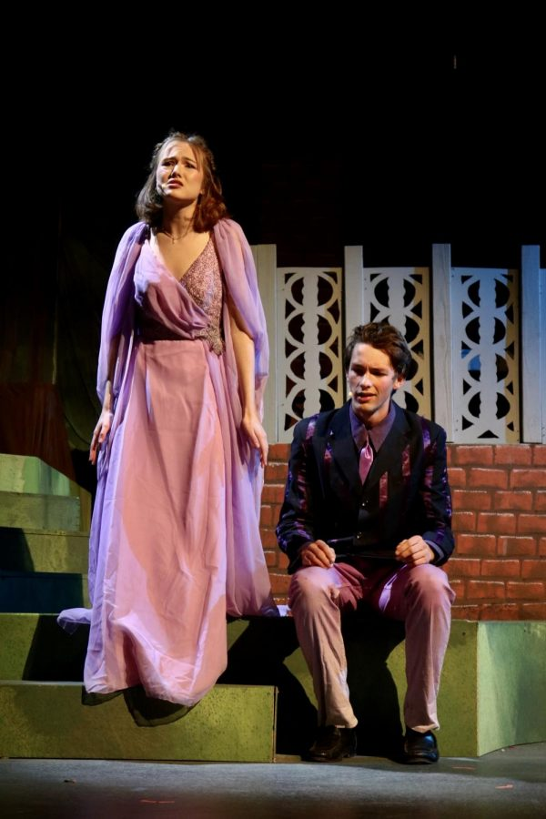 Lucie Higuera as Hermia acts alongside her counterpart Shawn Clayton as Lysander.