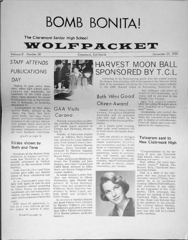 Wolfpacket November 1958