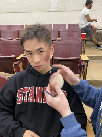 "Writer Charles Jiang in the process of becoming a member of the ""living dead"" in CHS"