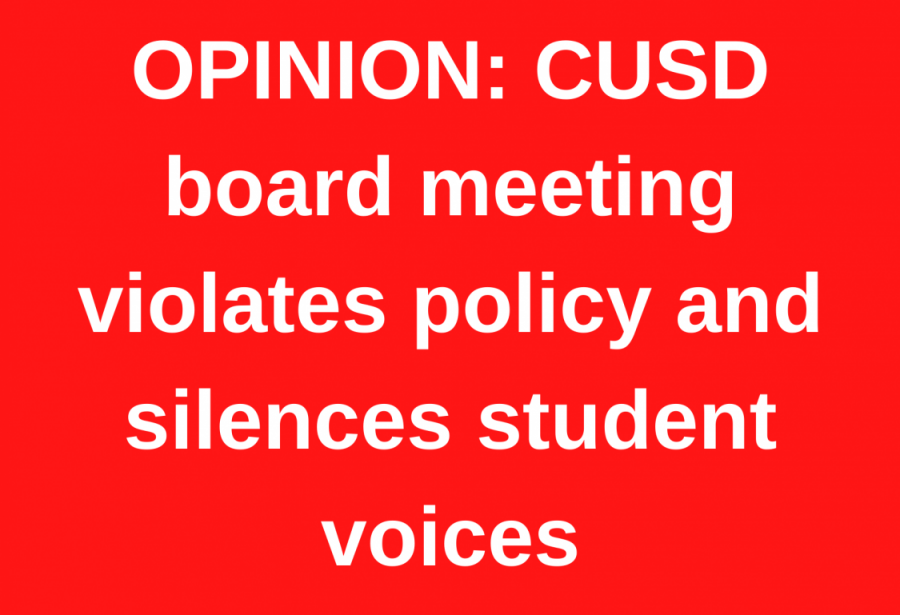 CUSD board meeting violates policy and silences student voices