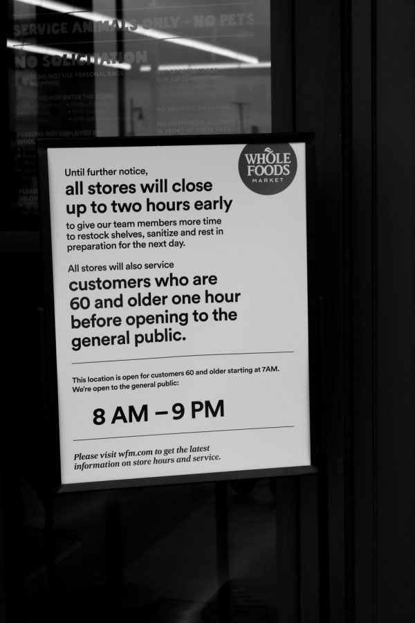 Whole Foods Market adjusts their hours due to the current pandemic