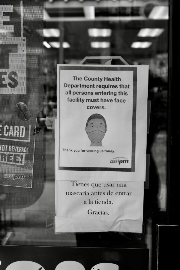 AM/PM gas station requires all customers entering to be wearing masks