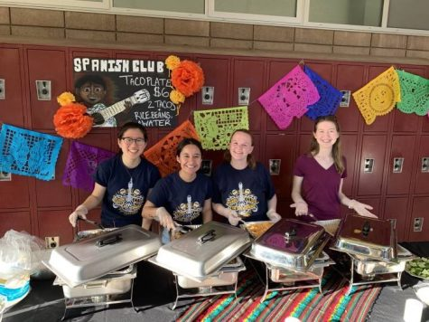 Spanish Club volunteers selling freshly made tacos at Culture Fest.