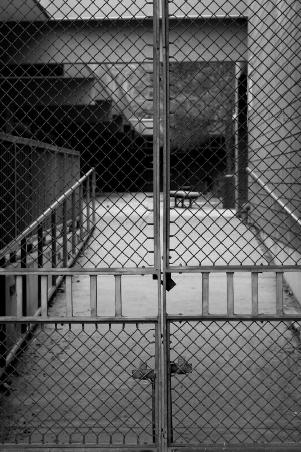 The ramp to the 700s quad at CHS gated up and locked off