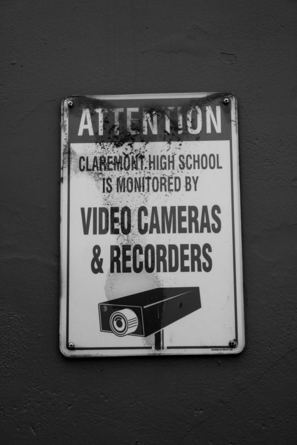 CHS warns trespassers of surveillance cameras; what does that make my camera then?