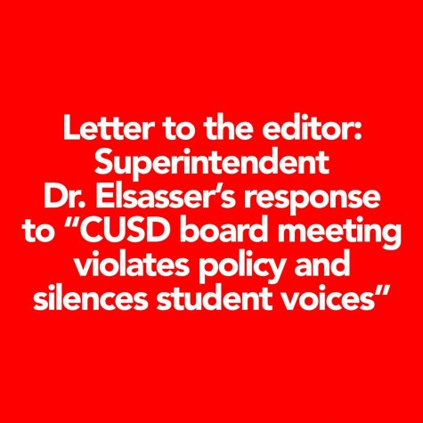 Letter to the editor: Superintendent Dr. Elsasser's response to