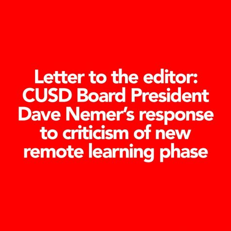 Letter to the editor: CUSD Board President Dave Nemer