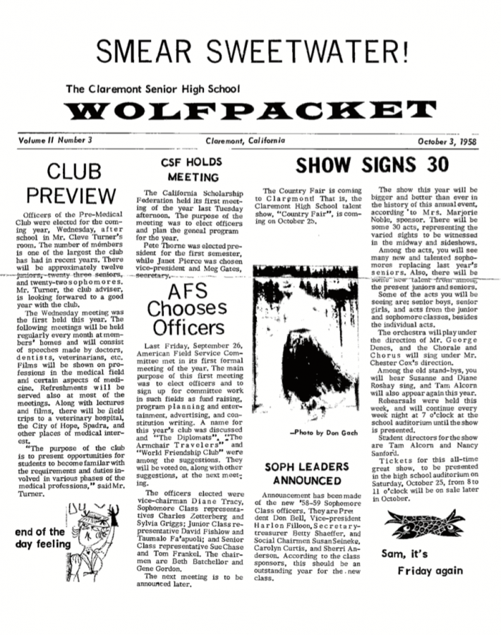 Wolfpacket October 3, 1958