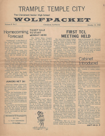 Wolfpacket October 17, 1958