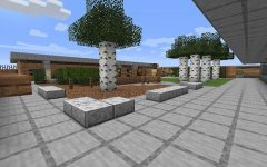 A screenshot of senior Eli Kupetz's Minecraft replica of the CHS 500s quad. (image courtesy of Eli Kupetz)