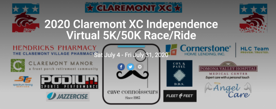 Claremont Cross-Country Boosters create virtual event as a substitute for beloved Claremont Village Freedom 5K
