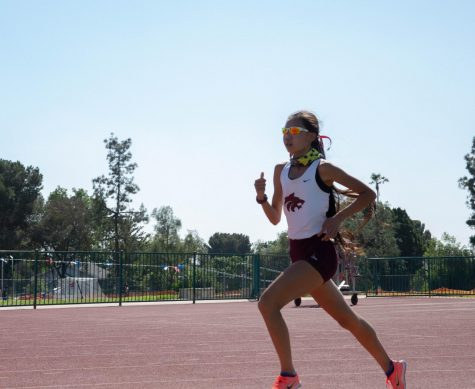 Denise Chen runs a 1600-meter race against Alta Loma on May 4, which she won, gliding past her competition.