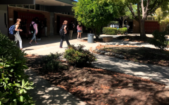 Students walk through the halls of the recently reopened Claremont High School.